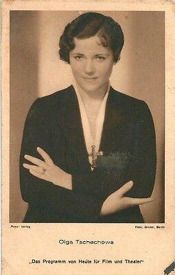 Ansichtskarte Olga Tschechowa Ross-Verlag Schauspielerin