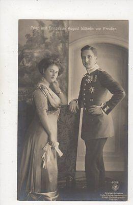 Prinz & Prinzessin August Wilhelm Von Preussen RP Postcard Germany Royalty 042b
