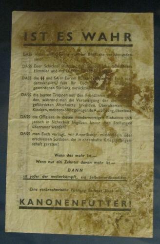 WW2 GERMAN SURRENDER LEAFLET