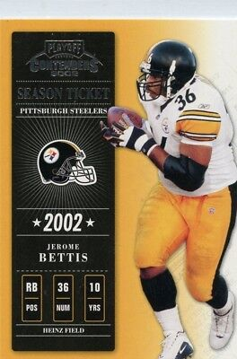 Jerome Bettis 2002 Playoff Contenders Season Ticket #24 Pittsburgh Steelers