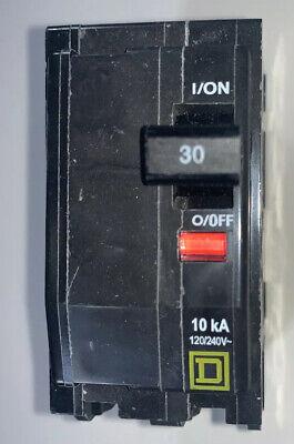 NEW OLD STOCK SQUARE D CIRCUIT BREAKER QOB130 30 AMP 120//240V TIPO QOB