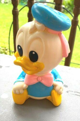 "Arco 1984 Vintage Walt Disney Baby Donald Duck 5"" Rubber Toy"