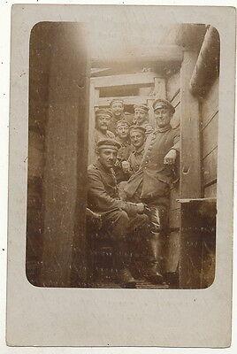 Graben (Soldaten im Schützengraben - Foto AK)