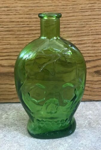 Vintage Green Wheaton Skull Poison Bottle - 1971