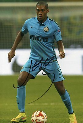 "Signed Juan Jesus Inter Milan 12"" x 8"" Photo Brazil Italy AS Roma"