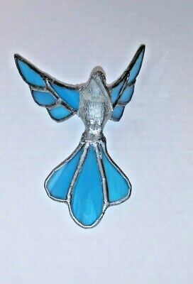 Iridescent Stain Glass Hummingbird Window or Porch Suncatcher