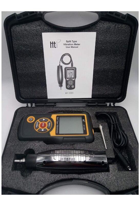 HT-1201 Split Type Vibration Meter Tester Vibrometer Gauge for Moving Machinery