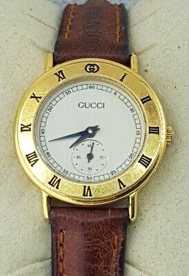 Gucci Ladies Quartz Gold Plated Swiss Watch Ref 3000.2.L Roman Numerals