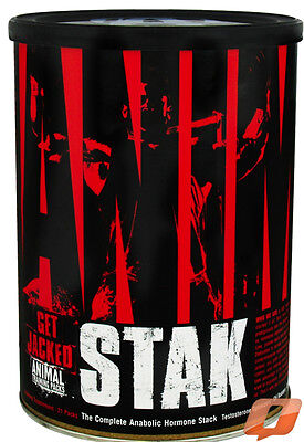 UNIVERSAL NUTRITION ANIMAL STAK 21 PACKS ANABOLIC HORMONE STACK TESTOSTERONE OPT