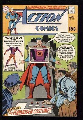 "ACTION COMICS (1938) #384 9.0 VF/NM ""THE FORBIDDEN COSTUME!"""