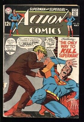 "ACTION COMICS (1938) #376 2.0 GD ""THE ONLY WAY TO KILL SUPERMAN!"""
