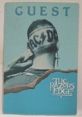AC/DC - VINTAGE ORIGINAL CLOTH CONCERT TOUR BACKSTAGE PASS