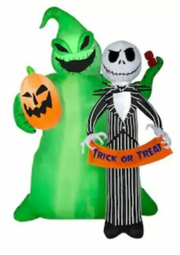 Disney 6.49-ft Lighted Jack Skellington Halloween Inflatable, New in box