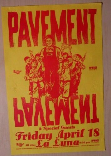 Pavement 1997 Portland Concert Original La Luna Show Poster