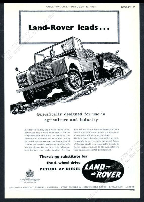 1957 Land Rover SUV illustrated UK vintage print ad