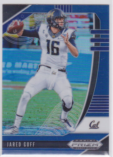 2020 PANINI PRIZM NCAA DRAFT LOS ANGELES RAMS JARED GOFF BLUE PARALLEL CAL