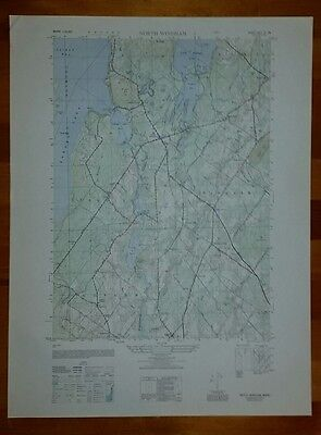 1940's Army topographic map North Windham Maine -Sheet 6971 IV SW