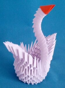 Hand Made 3D Origami Swan