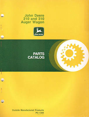 John Deere 210 310 Auger Wagon Parts Catalog Manual