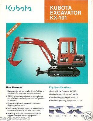 Equipment Brochure - Kubota - Kx-101 - Mini-excavator - C1992 E2233