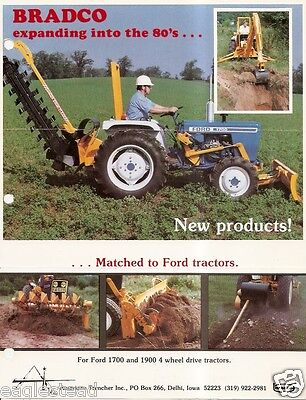 Equipment Brochure - Bradco Probe Mnt Trencher Blade Ford Tractor C1985 E2659
