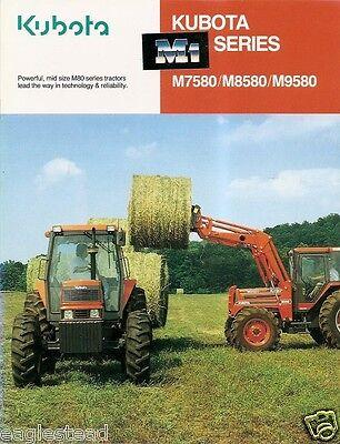 Farm Tractor Brochure - Kubota - M7580 M8550 M9580 - 1993 Fb589