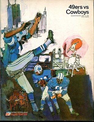 1967 Dallas Cowboys V San Francisco 49Ers Program 12 16 67 Kezar Stadium Ex Mt