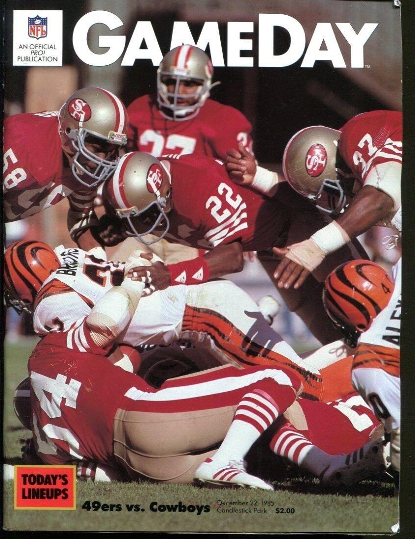 bb31f9d581e 1985 Dallas Cowboys v San Francisco 49ers Program 12/22/85 Candlestick Ex/MT