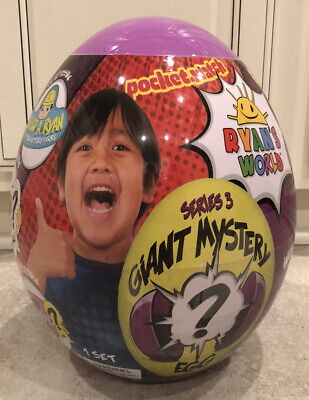 NEW Ryan's World Giant Mystery Egg Series 3 (Purple)