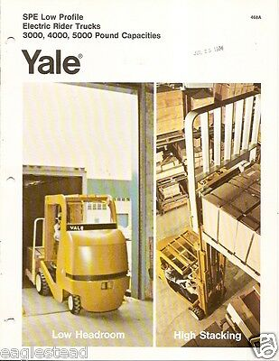 Fork Lift Truck Brochure - Yale - Spe Low Profile Electric C1972 3 Items Lt15