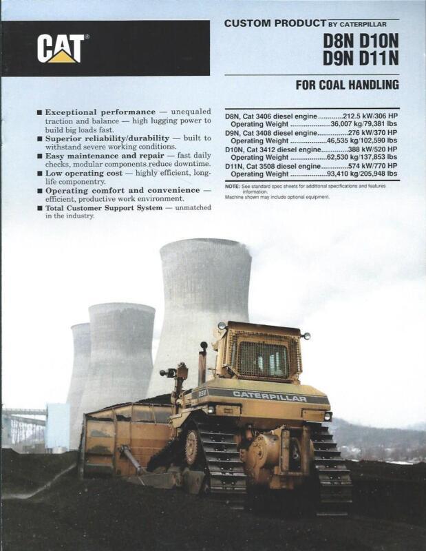 Equipment Brochure - Caterpillar - D8N et al Coal Handling Tractor 1989 (E2393)
