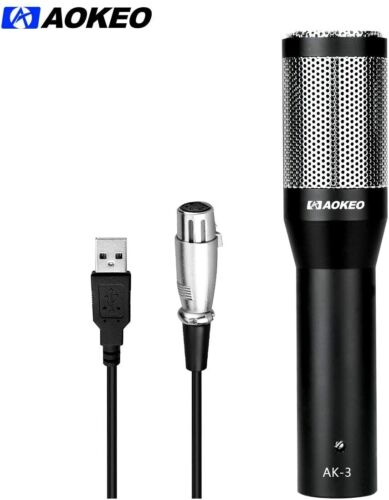 Aokeo USB Condenser Microphone Plug & Play Home Studio,Recordings,Live,Gaming PC
