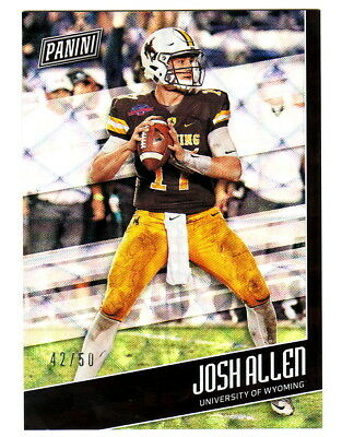 Fathers Day Frames (2018 Panini Fathers Day FUTURE FRAMES ROOKIE FOIL #FB3 JOSH ALLEN RC 42/50)