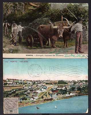 92975 2 AK Portugal Porto 1907 Costumes dos arredores