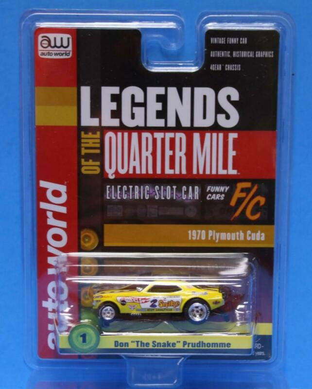 AUTO WORLD LEGENDS HO Slot Car Don THE SNAKE Prudhomme 70 CUDA 4G