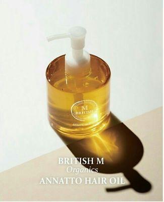 [British M] Organics Annatto Hair Oil 140ml /  repair damaged hair made in korea