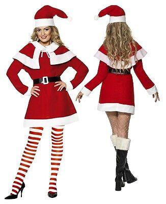 Ladies Missy Santa Mrs Claus Christmas Fancy Dress Costume Outfit 8-22 Plus Size (Plus Size Mrs Claus Outfit)