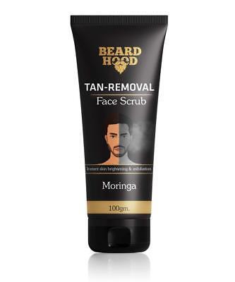 Best Beardhood Tan Removal Face Scrub with Moringa, Walnut Granules & Almond