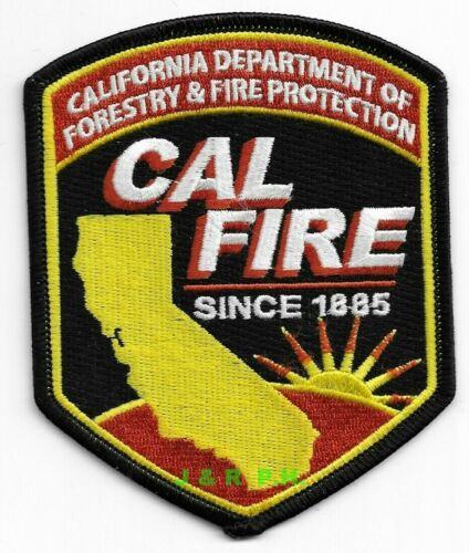 """Wildland - California Dept. of Forestry & Fire Prot. (3.5"""" x 4.5"""") fire patch"""