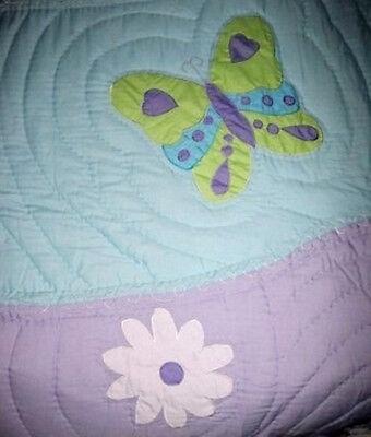 Lilac Garden Full Quilt (FULL / QUEEN - JCP - Lilac Garden  HAND-STITCHED SUMMER QUILT )