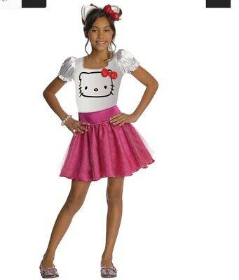 Tolles Super Süsses Hello Kitty Kostüm pink für Kinder 8-10 Jahre (Kind Kitty Kostüme)