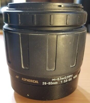 Tamron AF Aspherical 28-80mm 1:3.5-5.6 lens for parts or repair As-Is Canon EF