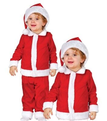 Baby Santa Claus Father Christmas Costume Infant  6-12 Mths Fancy Dress Costume