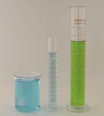 Cylinder Set 500ml 100ml Beaker 600ml Borosilicate Glass Griffin Cylinders Lab