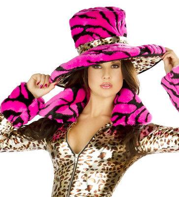 Pimp Hat Deluxe Costume Hat Hot Pink and Leopard Print Hat CS199 Halloween