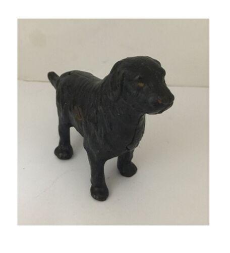 Antique 1910 NEWFOUNDLAND Cast Iron DOG Still Penny Bank ARCADE Original Paint