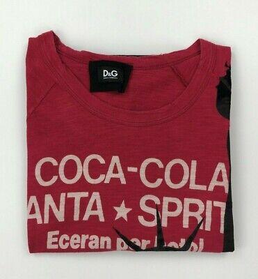 Men's Hot Pink D&G Dolce & Gabbana T-Shirt EU56 Medium M Coca Cola New York (Dolce Gabbana New York)