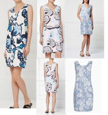 Womens NEXT Shift Dress Linen Floral Print Ladies Summer Vintage Smock Beach Sz