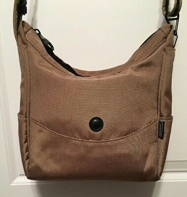 - Pacsafe Travel Security CitySafe 100 Anti Theft Tan Crossbody Shoulder Bag Purse