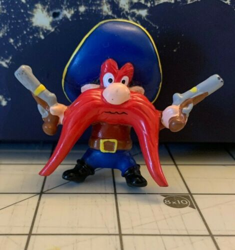 LOONEY TUNES APPLAUSE PVC CAKE TOPPER YOSEMITE SAM WITH GUNS